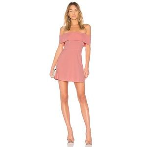 by the way. Aubrey Off the Shoulder Dress in Pink